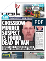 Crossbow Murder Suspect Front Page