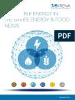 IRENA Water Energy Food Nexus 2015