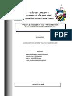 La redaccion del informe final en la investigacion