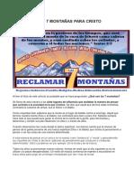 Reclamar Las 7 Montañas Para Cristo