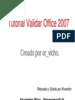 Tutorial Validar Office 2007 Alvareitor