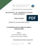 Identificación de Calibre de Cables y Alambres AWG