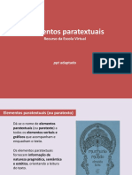 Elementos Paratextuais