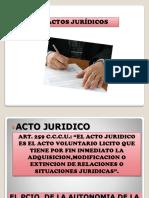 Actos Jurídicos - Su