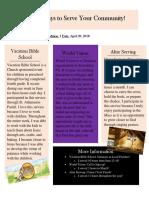 service newsletter