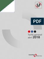Tarifa General S&P 2018