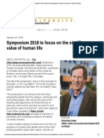 symposium 2018 to focus on the significance value of human life - purdue university