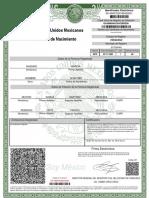 Acta de Nacimiento GAON850612HVZRRZ00
