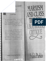 Frank Parkin-Marxism and Class Theory_ a Bourgeois Critique-Columbia University Press (1983)