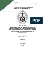 Formato Plan de Tesis - Agua y Saneamiento