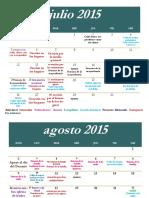 Cronograma Turin Julio -Diciembre 2015