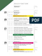 General Schedule Bicf5 2016