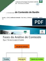 Análise de Conteúdo Bardin