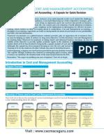 CA IPCC Costing & FM Quick Revision Notes