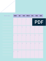 Pastel 2018 Monthly Calendar