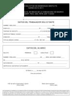 MODELO DE SOLICITUD Y ACTA CONSTITUCIÓN  BECAS TRABAJADORE.