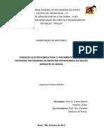 Oxidação Eletroquímica Para o Tratamento Da Agua Produzida Proveniente Da Industria Petroquimica Da Região Nordeste Do Brasil