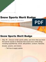 Snow Sports Merit Badge