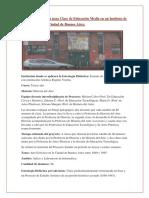 1-Secuencia Didáctica Para Clase de Educación Superior en Un Instituto de Bellas Artes de La Ciudad de Buenos Aires