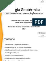 Introducción energía geotérmica