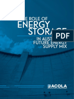 The Role of Energy Storage in Australia