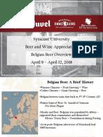 Belgian Beer Class 2018