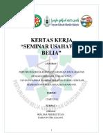 Kertas Cadangan Seminar Usahawan 2018