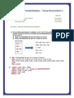 Desarrollo de Los Ejercicios de Probabilidades Dejados en Clase