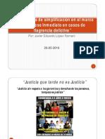 Mecanismos de Simplificación en Casos de Flagrancia. Dr Lopez Romani