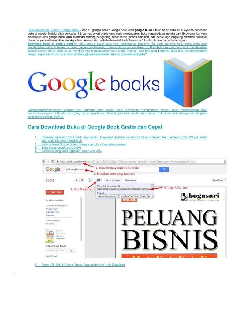 cara download di google book full