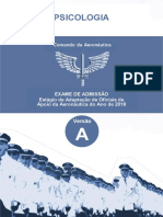 Aeronautica 2017 Ciaar Primeiro Tenente Psicologia Prova