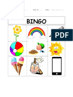 listening activity bingo