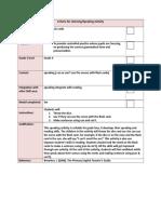 speching checklist