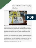 Ingin Menerbitkan Buku Sendiri