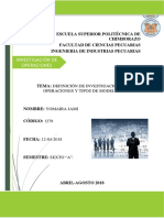 Definicion y Tipos de Modelos de Investigacion de Operaciones
