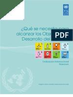 Qué se necesita para alcanzar los Objetivos de Desarrollo del Milenio?