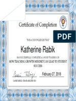 growth mindset certificate