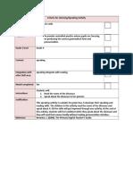 speaking checklist