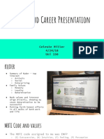 major and career presentation