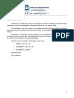 Atualização Caderno de Eca - Março de 2017