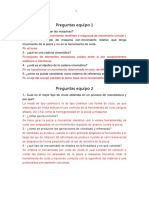 Questionario Primer Parcial Equipos ESIME MANUFACTURA