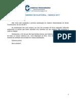 Atualização Do Caderno de Eleitoral - Março 2017