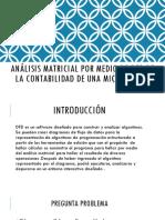 Análisis Matricial Por Medio de Dfd de La