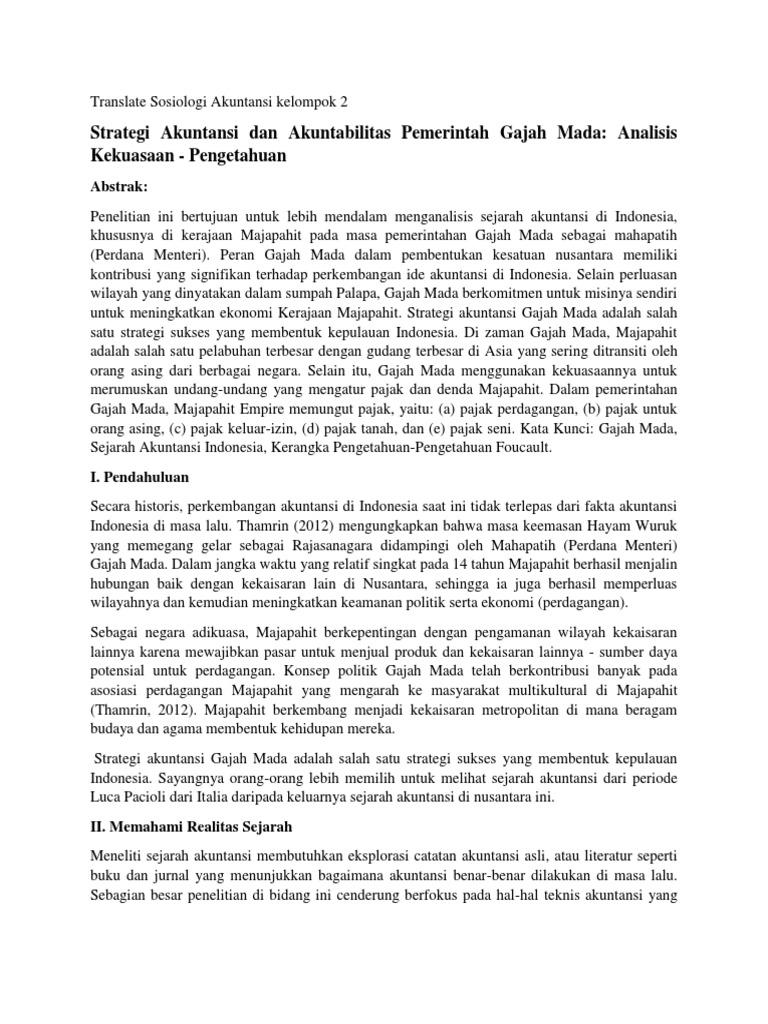 Translate Jurnal Gajah Mada