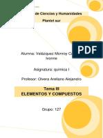 TEMA III QUÍMICA ELEMENTOS Y COMPUESTOS