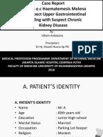 Anemia e.c Hematemesis Melena e.c Suspect Gastritis Errosive