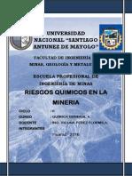 Riesgos Quimicos en La Mineria
