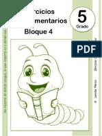 5to Grado - Bloque 4 - Ejercicios Complementarios