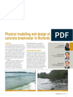 Physical Modelling and Design of a Floating Concrete Breakwater in Richards Bay Harbour