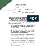 Urgent Omnibus Motion for Reinvestigation